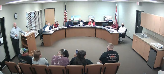 Wayne Beck, former city clerk, spoke at the Alma city council meeting on April 15 to discuss the mayor's salary. Mayor Jerry Martin received a $25,000 increase to his salary in 2019. Beck asked the council questions on where the money came from, and asked that it be investigated.