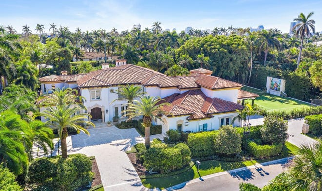 A Mediterranean-style house built in 1996 on a double lot at 228 Via Las Brisas has just changed hands for a recorded $22.99 million in the Phipps Estate enclave in Palm Beach.
