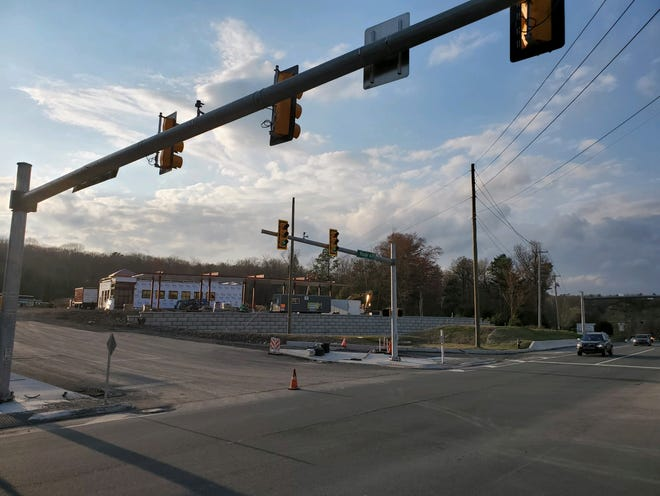 Construction moves along at the new Sheetz gas station/convenience store located across the street from Sanofi Pasteur in Swiftwater.