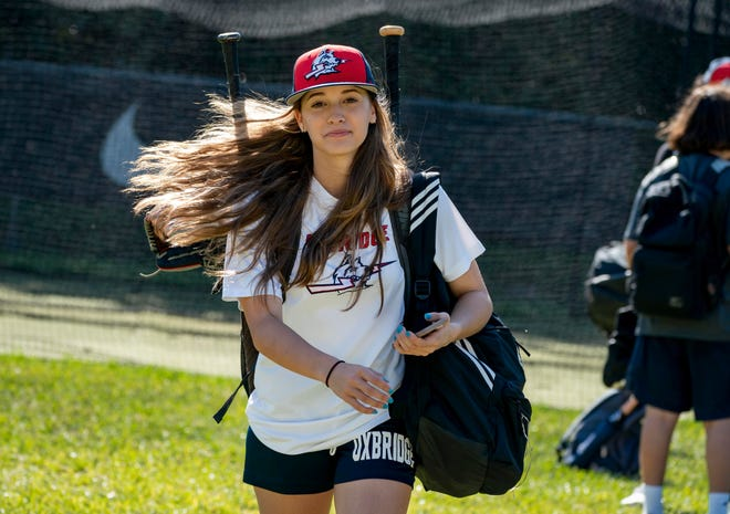 Madison Jennings is the first girl to play baseball for the Oxbridge Academy in West Palm Beach.