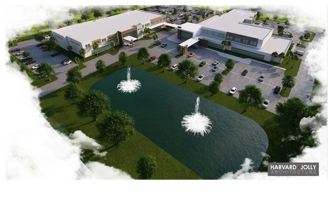An artist's rendering of the proposed orthopedic hospital in suburban Delray Beach.