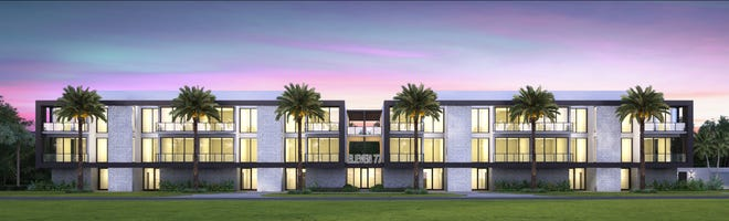 An artist's rendering of a project soon to be built in Delray Beach off George Bush Boulevard.