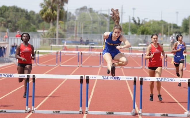 Charlotte's Adriana Iorfida won the 300 hurdles at the Class 3A-District 10 meet Thursday at Charlotte High in Punta Gorda.