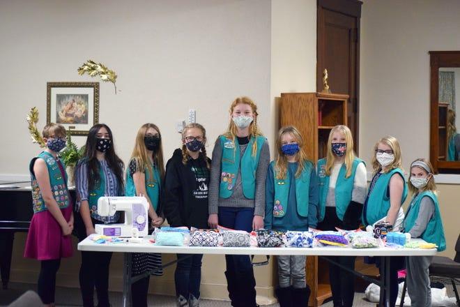 Kewanee Girl Scout Troop 4444's Cosette Komnick, Sophia Weber, Megan VanWassenhove, Alyssa Hudson, Hailey Redman, Cheyenne Orwig, Laynie Ford, Avalyn Hughes and Chayse Sturtevant were recently recognized for their project.