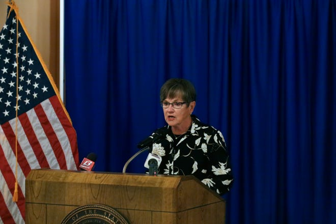 Gov. Laura Kelly announced Friday she had vetoed a sweeping tax plan backed by Republicans, arguing it is damaging to the state's fiscal health.