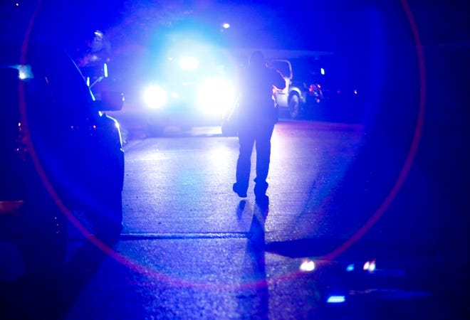 Tuscaloosa Police and Metro Homicide investigate an officer involved shooting on 24th Avenue east in Alberta Sunday, October 14, 2017. [Staff Photo/Gary Cosby Jr.]