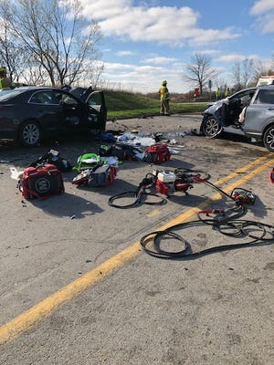 Five people were seriously injured Friday morning in a head on collision in Freedom.