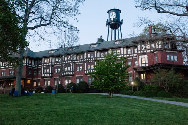 Anderson Hall, a boys' dormitory on the Asheville School campus, seen here in April 2021, is where Richard Woodhouse, a former teacher at the school, lived in the late 1960s. Four alumni have accused him of sexually assaulting them in this dorm.