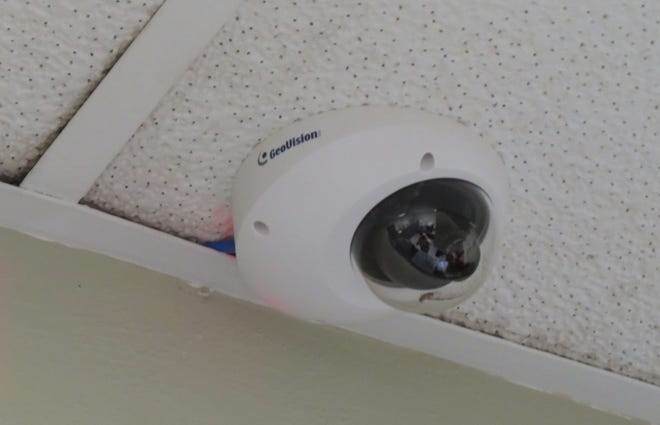 This photo of the security camera in the Bucyrus City Council Clerk's Office is included in the sheriff's report.