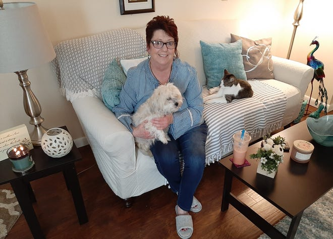 Rhonda Rorhrer shares her Bucyrus home with her cat, Ricky Bobby, and dogs Sophie and Minnie.