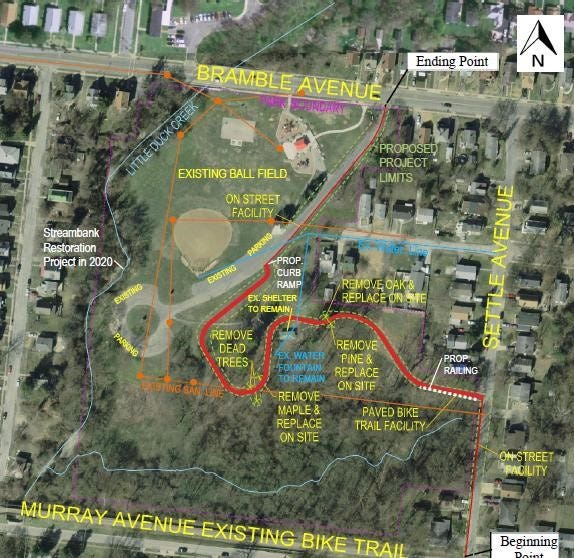 The Ohio Department of Natural Resources has awarded Cincinnati a grant of nearly $130,000 to build a trail through Bramble Park in Madisonville from the Murray Avenue Trail to Bramble Avenue.