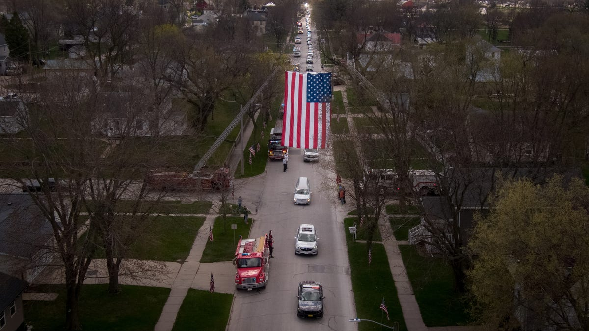 Photos: Iowa State Patrol Sgt. Jim Smith's funeral