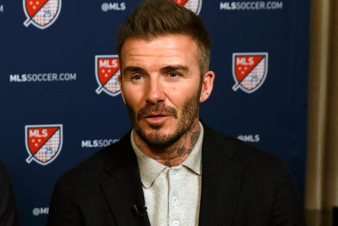 FILE - David Beckham's Inter Miami was found by Major League Soccer to have violated league budget rules with its signing of French midfielder Blaise Matuidi.