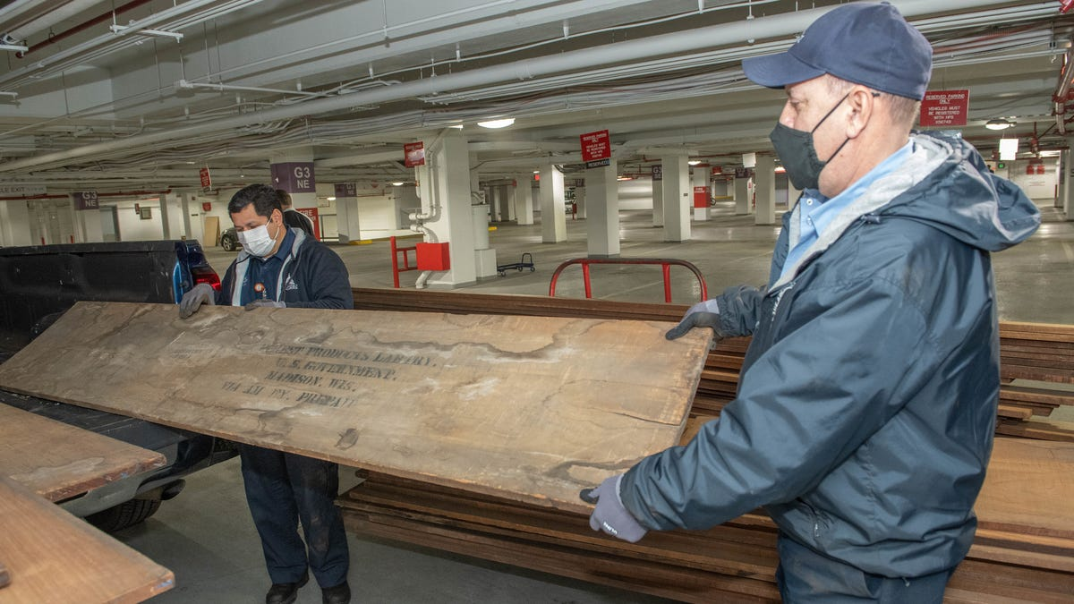 This wood sat in storage for 100 years. Now it's being used to fix Capitol riot damage 2