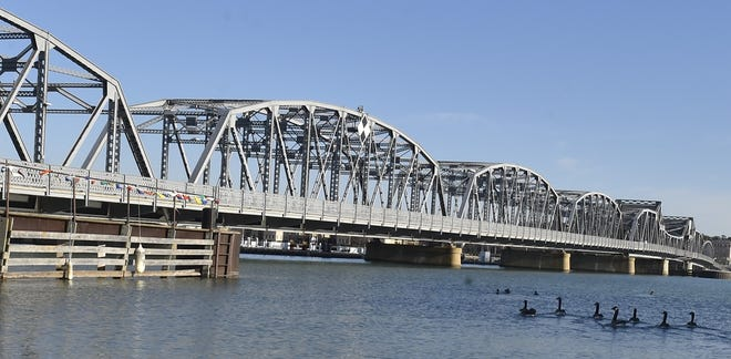 The three bridges crossing the channel in Sturgeon Bay, including the Michigan Street Bridge seen here, will close for a day on separate days between April 20 and May 4 for inspections and maintenance.