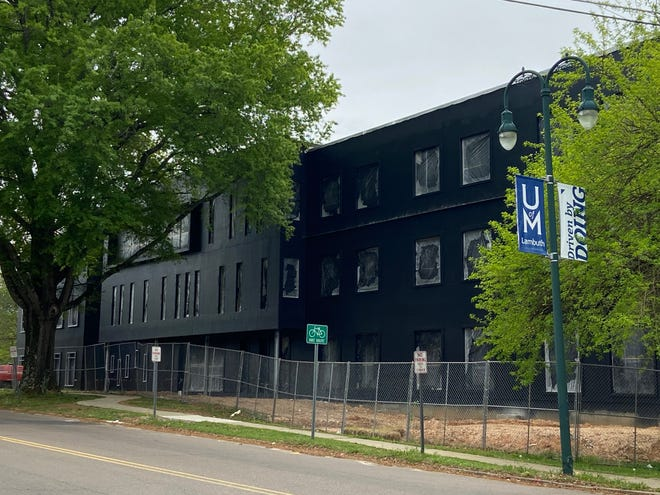 The new building for Madison Academic is near the point of being able to construct the brick façade on the outside of the building. The school is set to move from its current location in the old Jackson High building to its planned new location on the campus of the University of Memphis at Lambuth.