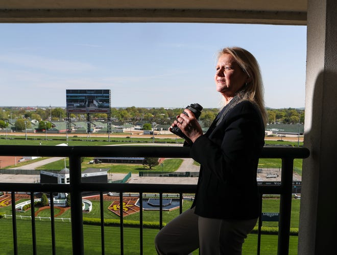 Barbara Borden, Kentucky Derby chief racing steward, on the grounds of Churchill Downs on April 14, 2021.