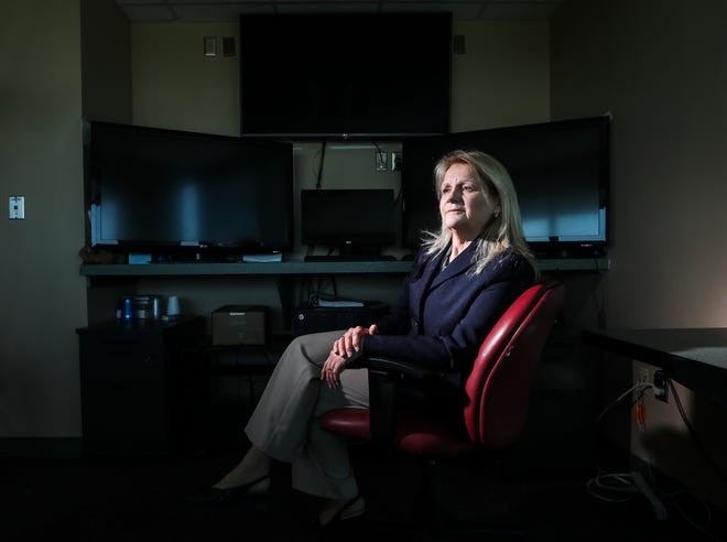 Barbara Borden followed the 2019 Kentucky Derby on multiple monitors in a small office.