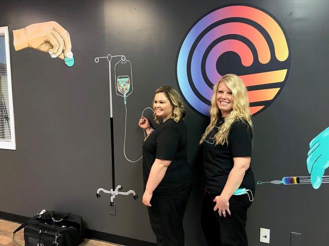 Jenny Swisher, at right, a certified nurse practitioner, and her business partner, Debrina Barnhart, opened CRU on April 5 at 2293 Village Park Ct.