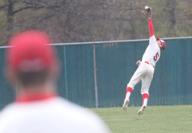 Plymouth's Camden Welch helped the Big Red take the No. 2 overall seed in the Division IV Galion District.