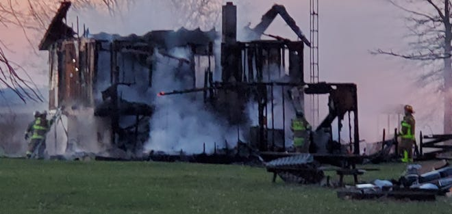 The aftermath of a house fire on Seiter Road which caused John Bailey II, 55, of Marion to die. Fire officials say the house was already 100% on fire when they arrived on-scene.
