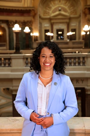 Wisconsin state Rep. Dora Drake on Tuesday, April 13, 2021. Drake represents the 11th Assembly District in the Wisconsin Assembly.