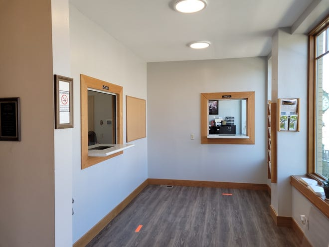 The newly renovated Village Hall now has walls and teller-style windows for the protection of the public and village workers. The remodeling was paid for with CARES Act funds.