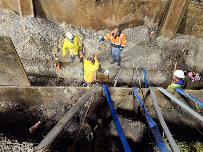 A water main break affecting Kimball and Clyde townships was repaired at around 2:30 a.m. Friday, April 16, 2021.