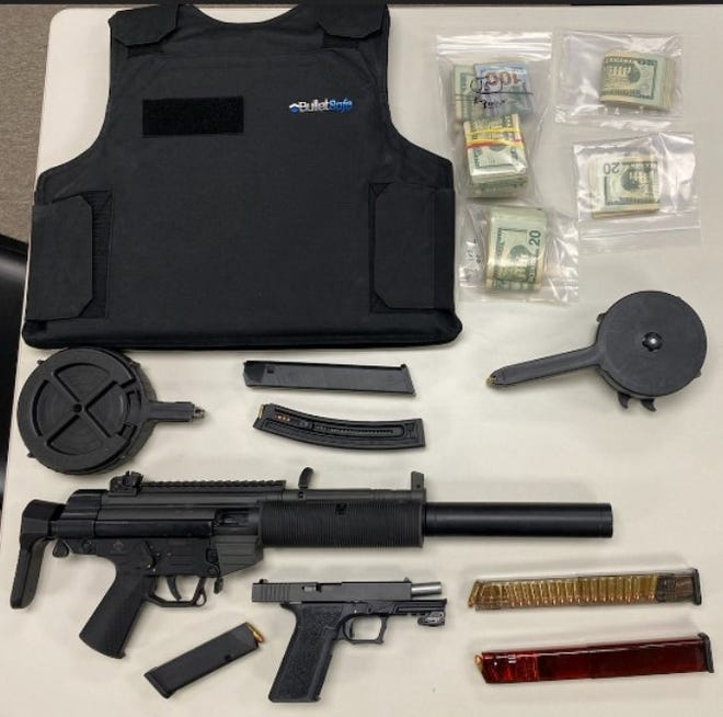 Members of the York County Drug Task Force seized drugs, cash, guns and body armor when they arrested Derren James Williams at his York City home on April 8, 2021, according to the county DA's office.