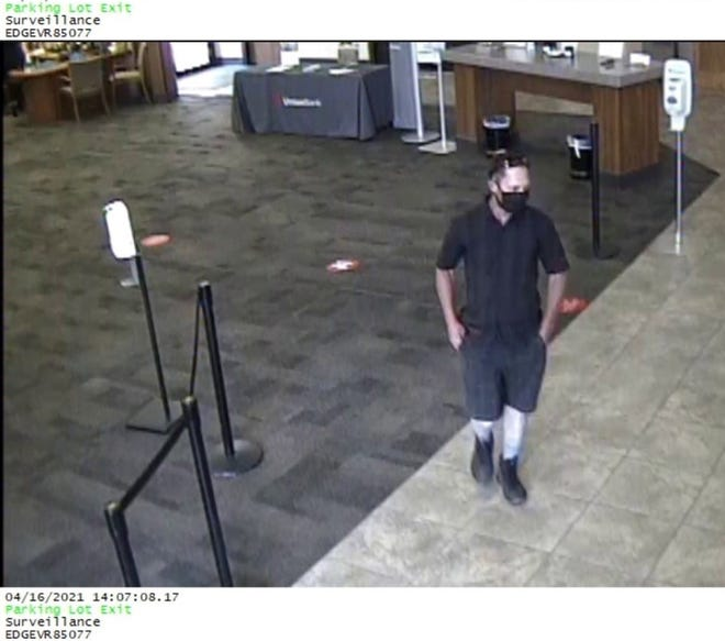 Police are looking for a man they said robbed a bank in Redding on Friday, April 16, 2021. They described him at 5-foot-5, thin build with thinning dark hair, according to a news release.