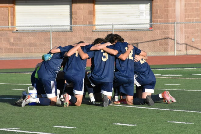 Snow Canyon boys soccer defeats Pine View 3-1 on Tuesday, April 13, 2021.