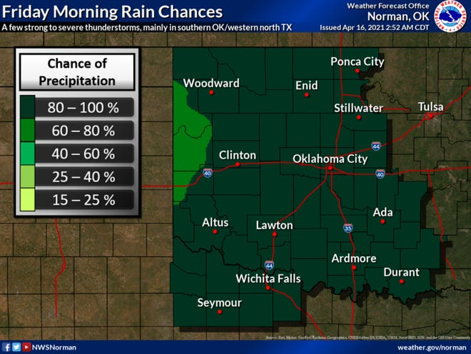Rain in North Texas should end by Friday afternoon