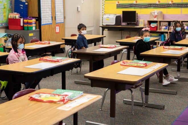 Garfield Elementary School on March 30, 2021, in Oakland, California.