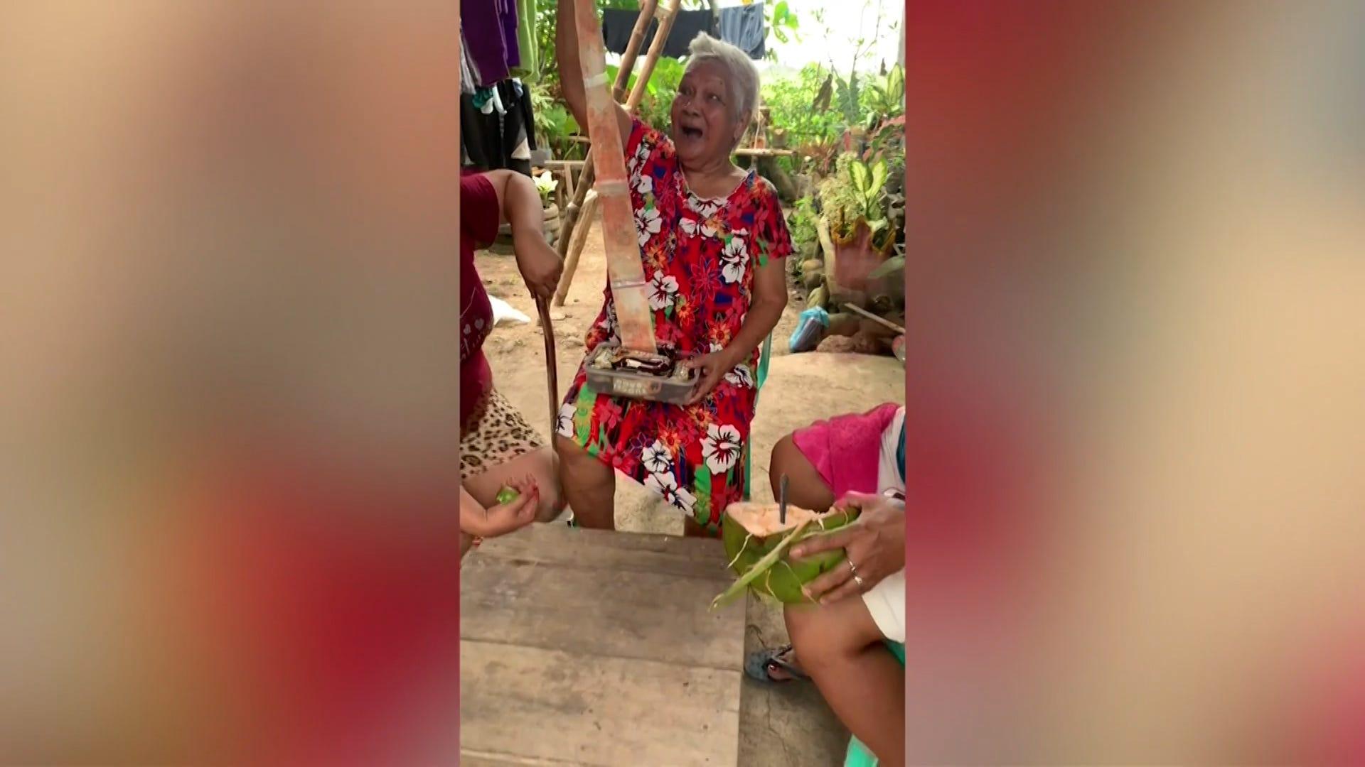 94-year-old grandma gets surprise in birthday cake