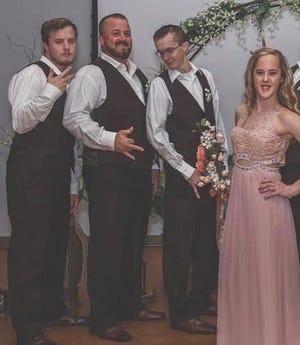 From left, Brennan Flanagan, Kean Flanagan, Ryan Flanagan and Caitlyn Flanagan.