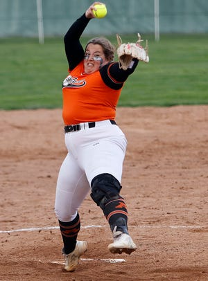 Ashland's Brandilyn Reymer delivers a pitch during a game earlier this season.