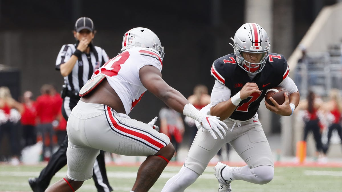 Rob Oller | Silent Stroud's quarterback play speaks volumes in Ohio State spring game