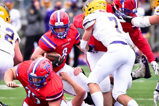 Alex Collver (8) is a key returner for the New Hartford Spartans during the 2021 fall season.