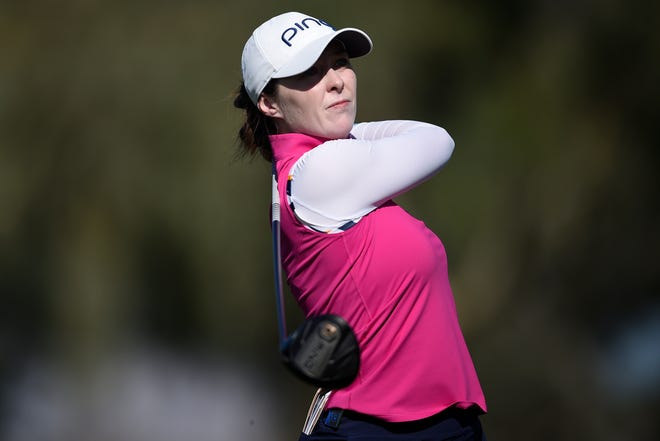 Brittany Altomare of Shrewsbury has moved into the top 10 entering the final round of the Lotte Championship in Hawaii.