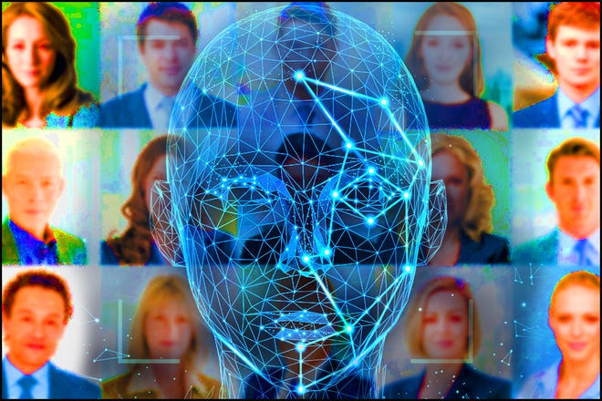 Facial recognition is being used by more and more police agencies to help with identifying potential criminals.  [Photo Illustration by Brad McClenny/The Gainesville Sun]