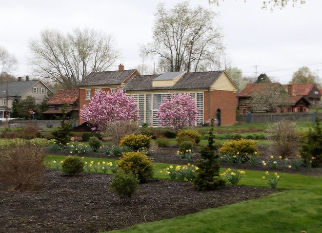 The spring colors in the Zoar Garden is always a draw for visitors.