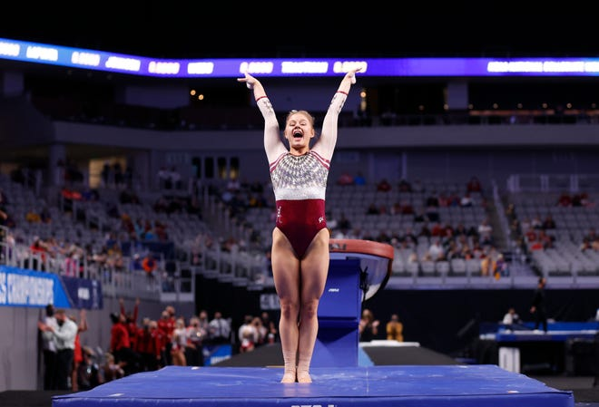 4/16/21 WGY NCAA's Day 1Alabama gymnast Mati WaligoraPhoto by Robert Sutton