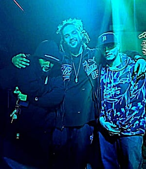 From left, Danny Fantom, K'Nen and Jafet Muzic are the principal rappers of Stanton Capitol Records.