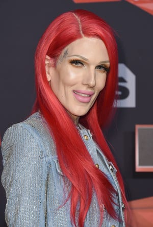 FILE - In this Sunday, March 5, 2017, file photo, Jeffree Star arrives at the iHeartRadio Music Awards at the Forum in Inglewood, Calif.