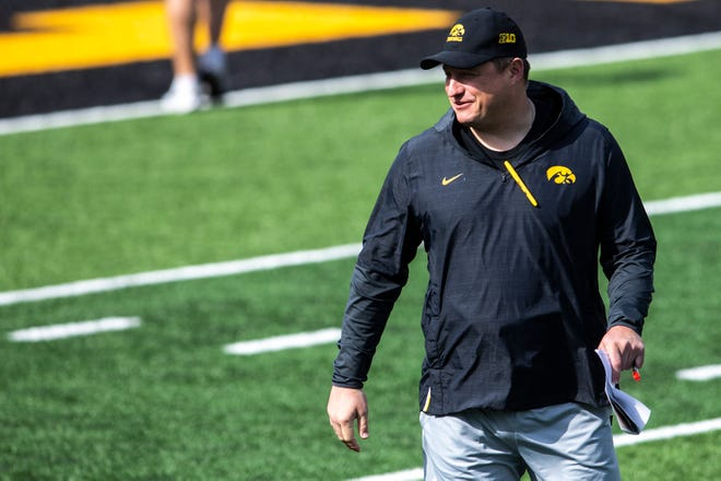 Brian Ferentz is entering his fifth year as Iowa's offensive coordinator and 10th season as a Hawkeye assistant since his time with the New England Patriots from 2008 to 2011. Ferentz was born in Iowa City, attended City High School and also played offensive line for the Hawkeyes in the early 2000s.