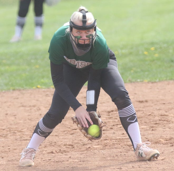 Madison's Hope Barrett collected three hits and an RBI in a 10-0 win over Lucas earning her a nomination for Mansfield News Journal Female Athlete of the Week.