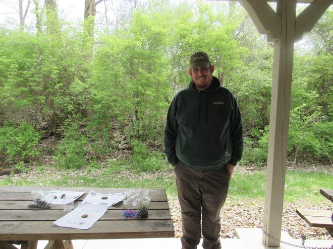 Marion County Park District Naturalist James Anderson at Marion Tallgrass Trail Saturday, April 17, 2021. The organization hosted an Earth Day Packet Pickup event, where children received packets filled with games and activities.