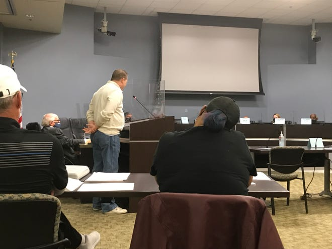 Jim Roberts of the group 4GoodGovernment addressed the Davidson County Election Commission on April 17, 2021.