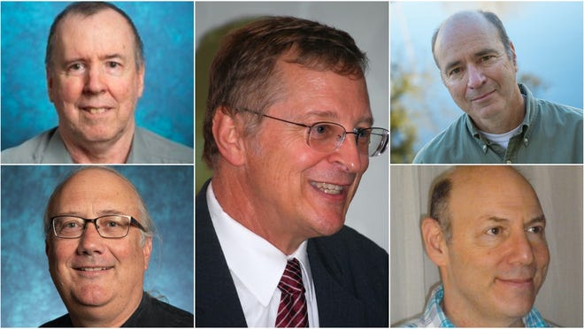 Pictured clockwise from top left: James Herndon, Gary Eiceman, Matthew Gompper, David Trafimow and Jeffrey Arterburn.