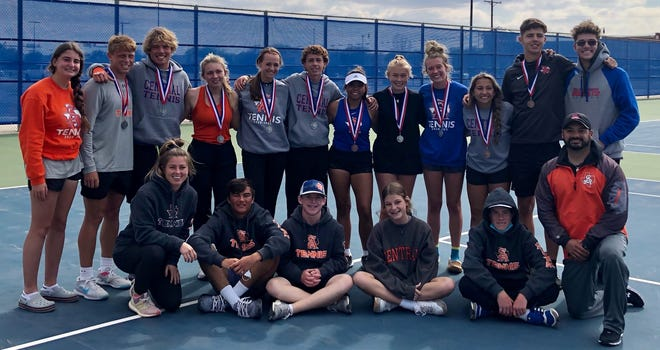 The San Angelo Central High School tennis team had a strong showing at the District 2-6A Tournament in Wolfforth on Friday, April 16, 2021.